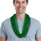 """Green 33"""" 12mm Bead Necklaces"""