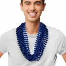 """Blue 33"""" 12mm Bead Necklaces"""