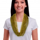 """Gold 33"""" 12mm Bead Necklaces"""
