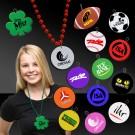 2 1/2 Inch Plastic Medallions for Mardi Gras Beads
