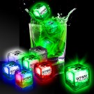 Imprinted Liquid Activated Light Up Ice Cubes- Variety of Colors