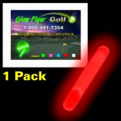 RED REPLACEMENT GLOW STICK FOR THE GLOW FLYER GOLF BALL