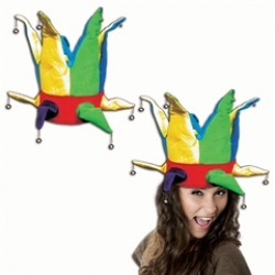 Multi-Color Velvet Jester Hat