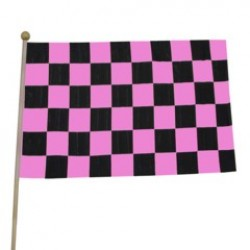 Pink Checkered Flags