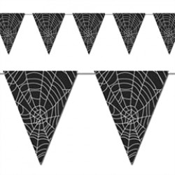 Spider Web Pennant Banner