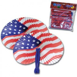 Patriotic Folding Fans
