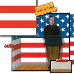 Patriotic Stripes Backdrop