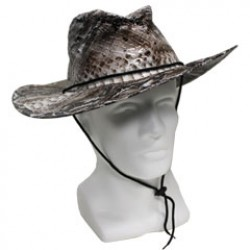 Serpent Print Metallic Cowboy Hat