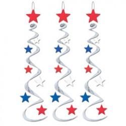 Patriotic Star Whirls