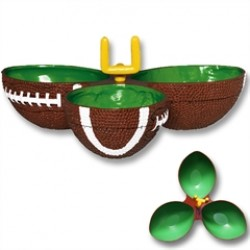 Football Field Goal  Sectional Snack Dish