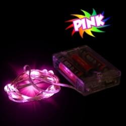 Pink LED String Lights