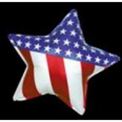 Patriotic Star Metallic Balloon - 18 Inch
