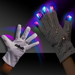 Rock Star Flashing Sequin Glove