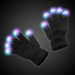 Black Light Up Rave Gloves