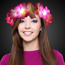 LED Pink Flowers Halo Headband