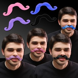 Colorful Handlebar Mustaches
