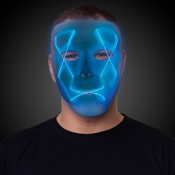 Light Up Blue EL Wire Mask
