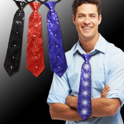 Sequin LED Neckties - 14 Inch