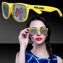 Yellow Custom Classic Retro Billboard Sunglasses