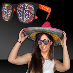 Fiesta Neon Red Billboard Sunglasses