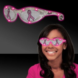 Pink Ribbon Pink LED Billboard Sunglasses