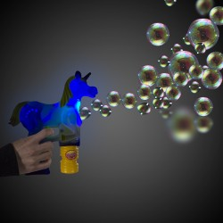 Magical White LED Unicorn Bubble Gun