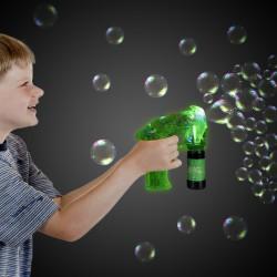 Neon Green LED Bubble Gun
