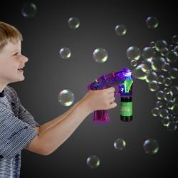 Neon Pink LED Bubble Gun
