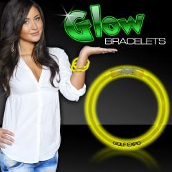 "Yellow Superior 8"" Glow Bracelets"