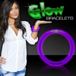 "Purple Superior 8"" Glow Bracelets"
