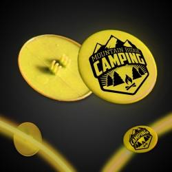 Yellow Clip On Plastic Medallion