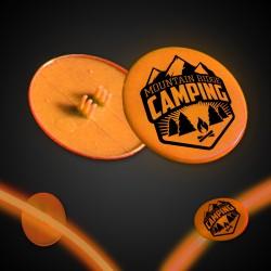 Orange Clip On Plastic Medallion