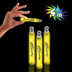 "Yellow 4"" Premium Glow Sticks"
