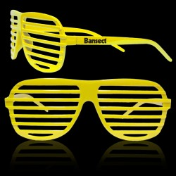 Yellow Slotted Shutter Shades