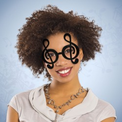 Black Treble Clef Note Glasses