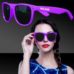 Premium Purple Classic Retro Sunglasses