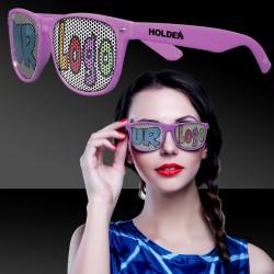 Pink Custom Classic Retro Billboard Sunglasses