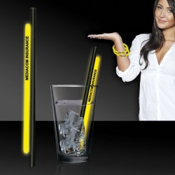 """Yellow 9"""" Glow Straws AND Bracelets"""