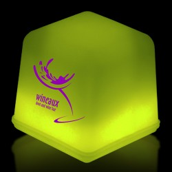 """1"""" Yellow Glowing Ice Cubes"""