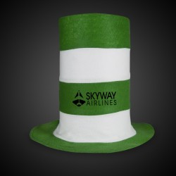 Green & White Stove Pipe Top Hat