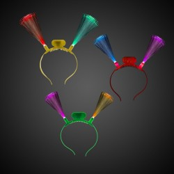 LED Fiber Optic Headbands - Assorted Colors