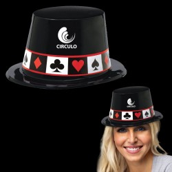 Casino Black Plastic Top Hat