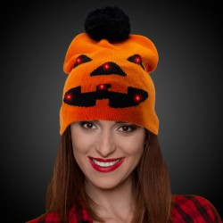 Halloween Pumpkin LED Knit Hat