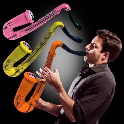Assorted Color Inflatable Saxophones