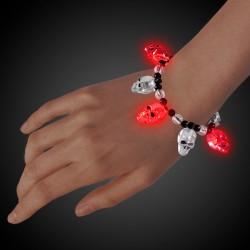 Skull Bead LED Bracelet