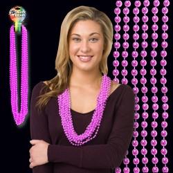 Light Pink Metallic Bead Necklaces