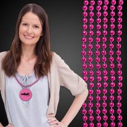 Metallic Pink Mardi Gras Beads