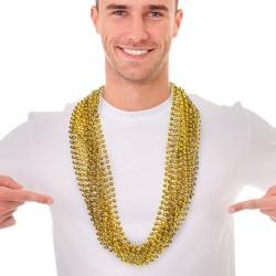 Metallic Gold Mardi Gras Beads
