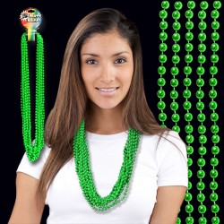 Metallic Green Mardi Gras Beads