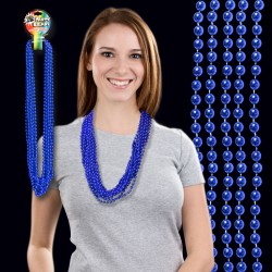 Blue Metallic Beaded Necklace